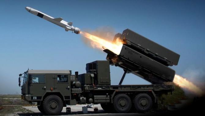 Sistemul Naval Strike Missile, sursă foto: Raytheon