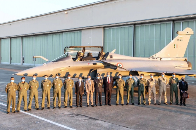 Rafale, India. Imagini de la sosirea primului lot de avioane de vânătoare Rafale în India. Sursă foto: Dassault Aviation
