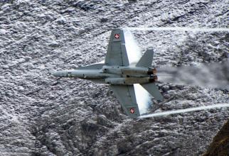 Un F/A-18 al Elveției, sursă foto: Ministerul Apărării de la Berna