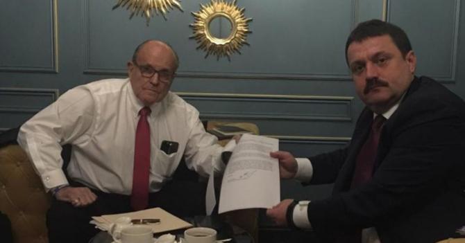 Andriy Derkach și Rudy Giuliani