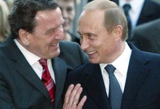 Gerhard Schroeder și Vladimir Putin