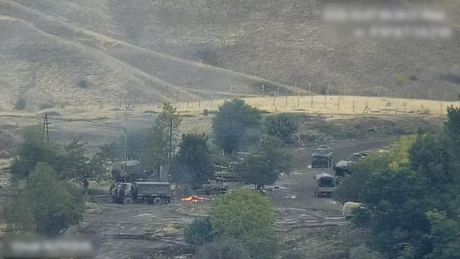 Luptele din Nagorno-Karabah, sursă foto: Facebook Shushan Stepanyan, purtător de cuvânt în Ministerul Apărării din Erevan