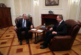 Serghei Lavrov si ministrul Afacerilor Externe din Belarus, Vladimir Makei