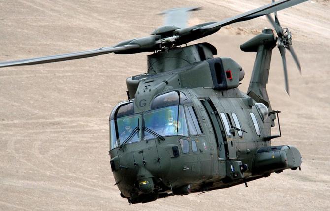 """Elicopter AW-101, model care ar urma să fie înlocuit în viitor de programul """"Next-Generation Rotorcraft Capability"""" (NGRC). Sursă foto: Leonardo"""