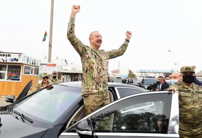 Președintele azer Ilham Aliyev, sursă foto: Ministerul Apărării din Azerbaidjan Facebook