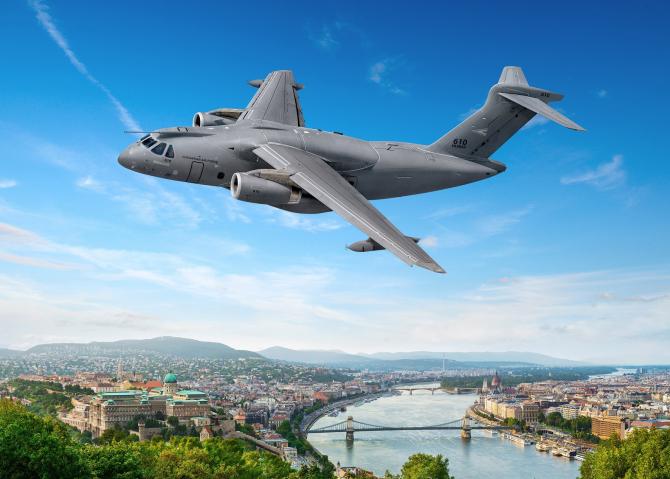 KC-390, Ungaria. Sursă foto: Embraer Facebook