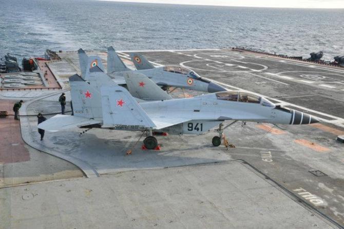 MiG-29K, India. Sursă foto: INS Vikramaditya Facebook