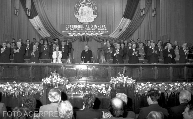 Nicolae Ceaușescu, la al XIV-lea Congres al Partidului Comunist Român, desfășurat între 20 și 24 noiembrie 1989