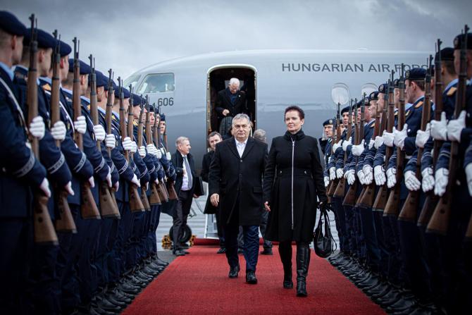 Viktor Orban, premierul Ungariei, în vizită la Berlin. Sursă foto: Orbán Viktor Facebook