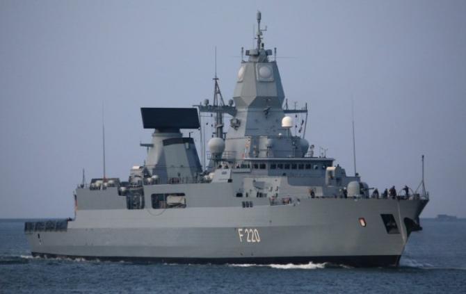 Fregata germană Hamburg, sursă foto: Misiunea EUNAVFOR