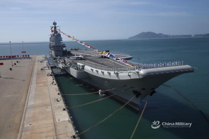 Portavionul Shandong, sursă foto: Ministerul Apărării din China