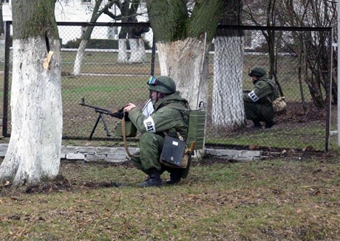 Trupe ruse în timpul unui exercițiu în Transnistria, sursă foto: Ministerul Apărării de la Moscova