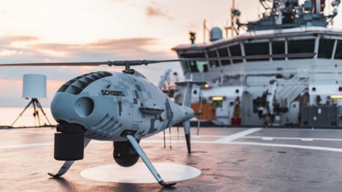 Drona S-100 Camcopter, sursă foto: Schiebel Group