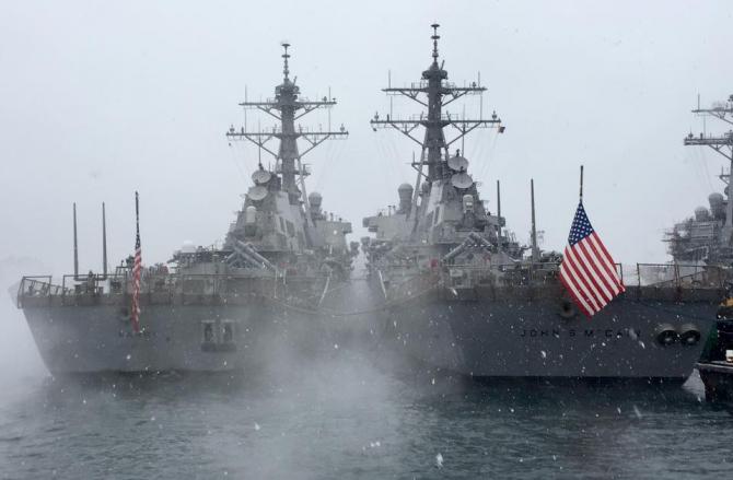 Distrugătorul USS John S. McCain. Sursă foto: USS John S. McCain - Facebook