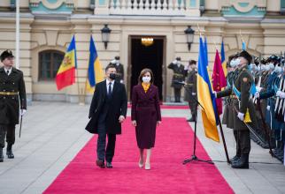 Președintele ucrainean Vladimir Zelenski și președintele moldovean Maia Sandu. Sursă foto: Maia Sandu Facebook