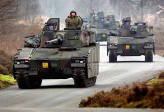 vehicule de luptă pentru infanterie CV90 ale armatei olandeze. Sursa Foto: Ministerul olandez al Apararii
