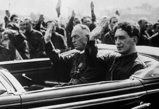 Mareșalul Ion Antonescu, alături de Horia Sima, conducătorul Mișcării Legionare