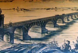 Podul lui Traian, construi de Apolodor din Damasc, peste Dunăre. Imagine concept, sursă foto: PrimariaDrobeta.ro