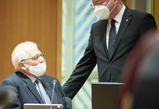 Josep BORRELL și Bogdan AURESCU, sursă foto: consilium.europa.eu