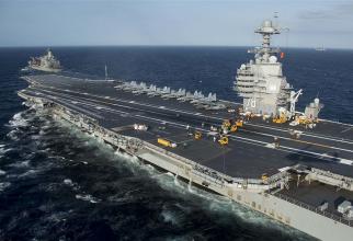 Portavionul american USS Gerald R. Ford, sursă foto: US Navy