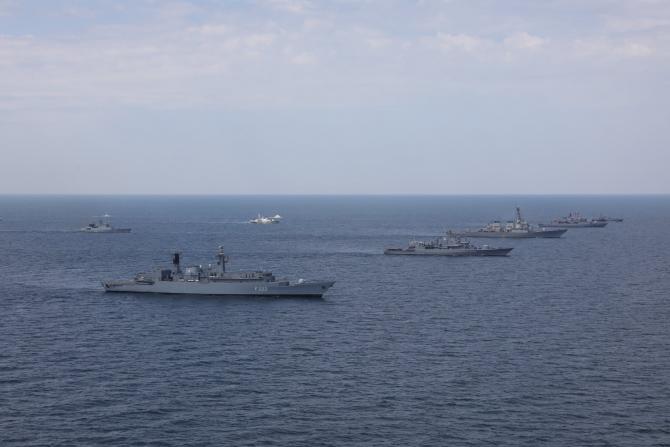 """Exercițiul """"Sea Breeze 20"""", foto: Forțele Navale Române, Facebook"""
