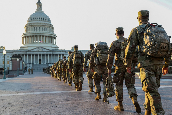 Militari ai Garzii Nationale a SUA. Sursa Foto: Twiiter National Guard