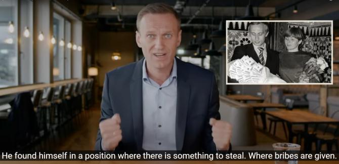 Foto: Captură din ancheta lui Alexei Navalnîi cu privire la palatul lui Putin. Sursă: YouTube Alexei Navalnîi