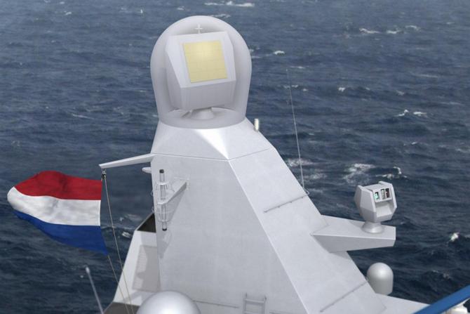 Radar NS50, sursă foto: Thales