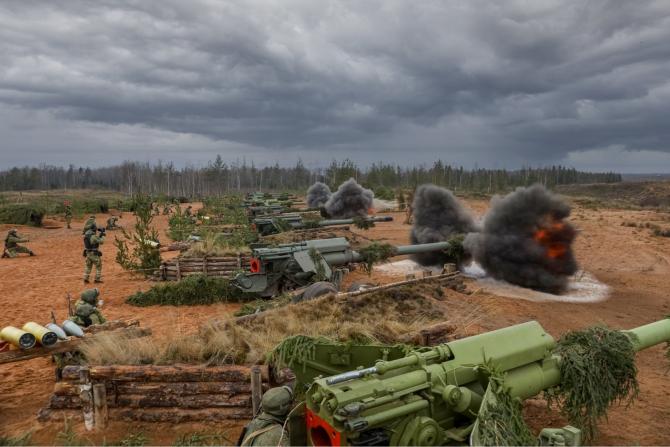 Exercițiu de luptă în Federația Rusă, sursă foto: Ministerul Apărării de la Moscova Facebook - Минобороны России