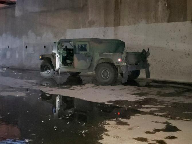 Humvee-ul furat dintr-o garnizoană a Gărzii Naționale din SUA. Sursă foto: Military Times via FBI