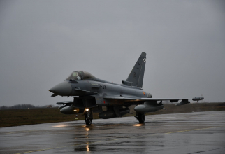 Un Eurofighter Typhoon al Spaniei, la baza Mihail Kogălniceanu, sursă foto: NATO Allied Air Command Facebook