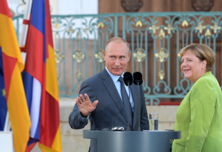 Vladimir Putin și Angela Merkel, sursă foto: Kremlin