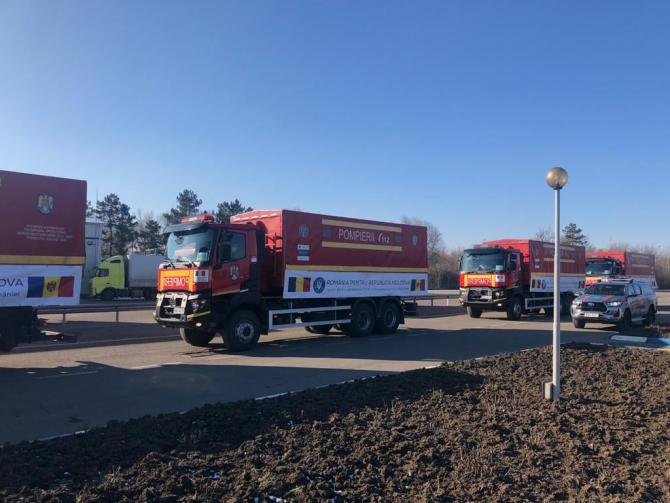 Convoiul cu ajutor umanitar gratuit trimis de România către Republica Moldova, sursă foto: MAE