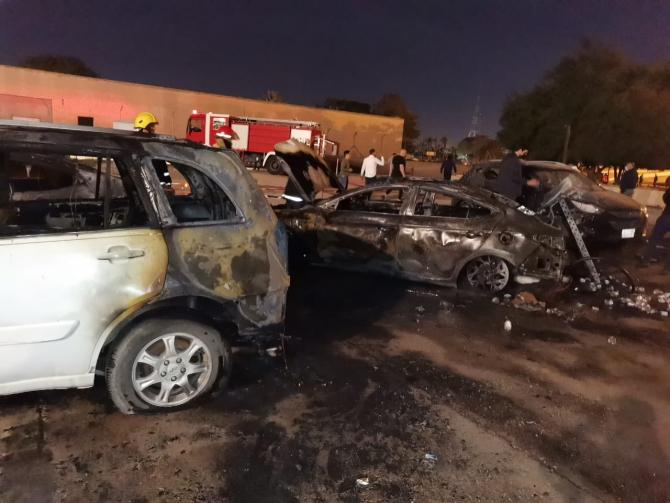 Atac rachete Katiusa Zona Verde Bagdad  Sursa foto: Twitter