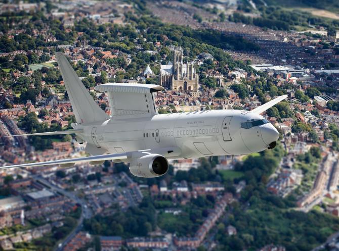 Avion avertizare timpurie E-7 Wedgetail  Sursa foto: Twitter/Royal Air Force