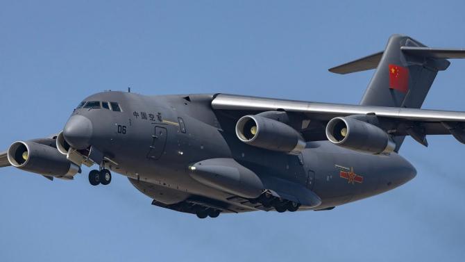 Avion de transport Y-20  Sursa foto: Youtube