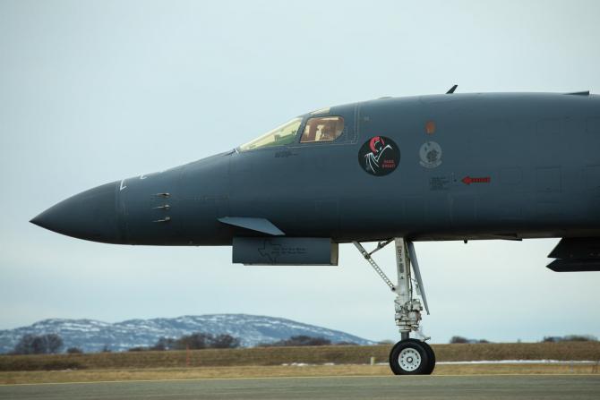 Bombardier american B-1B Lancer, în Norvegia. Sursă foto: NATO
