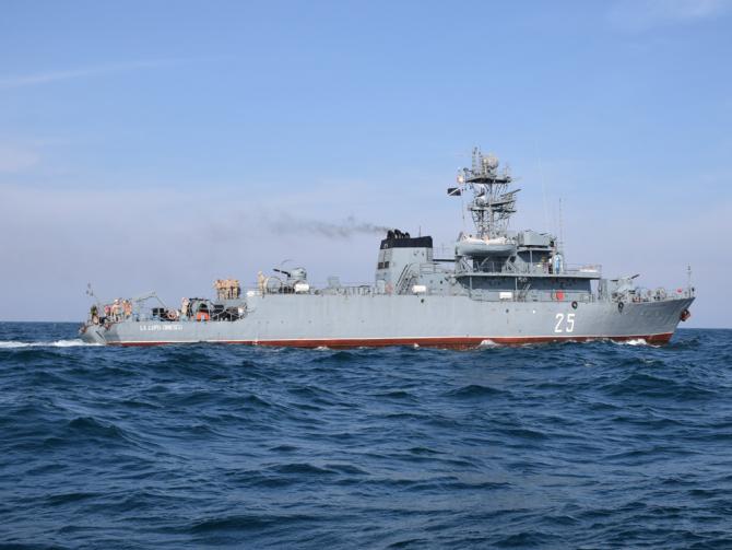 Dragorul maritim Lupu Dinescu  Sursa foto: Forțele Navale Române