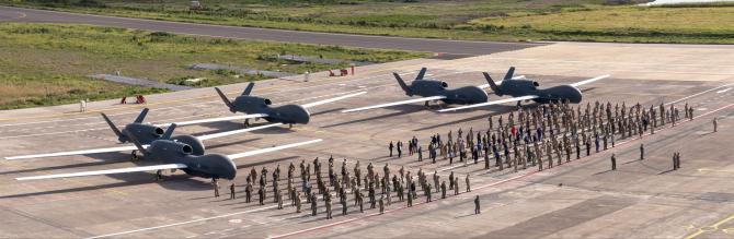 Drone RQ-4D Phoenix NATO  Sursa foto: Twitter