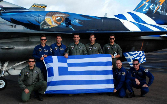 "F-16 ""Zeus"", Grecia. Sursă foto: Airshow 2018, forțele armate poloneze: Airshow.wp.mil.pl"