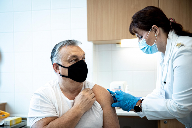 Viktor Orban s-a vaccinat cu serul chinezesc  Sursa foto: Viktor Orban/Facebook