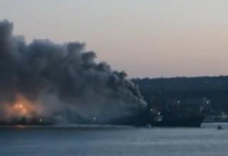 Imaginea atașată este de la un incendiu din 2014, din Sevastopo