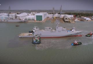 Lansare corveta Hail Sursa foto: Captură Navantia