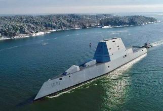 Distrugătorul american USS Michael Monsoor, al doilea din clasa Zumwalt. Sursă foto: USS Michael Monsoor - DDG 1001 - Facebook