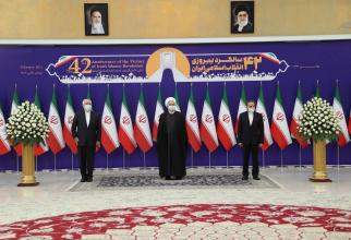 Președintele Rouhani, la aniversarea Revoluției Islamice în Iran. Sursă foto: Guvernul de la Teheran