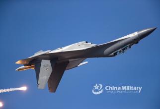 Foto: Un J-16 al Chinei, în timpul unui show aerian în 2019, sursă: Ministerul Apărării de la Beijing