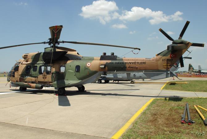 Elicopter AS 532 Cougar  Sursa foto: Ministerul Apărării din Turcia