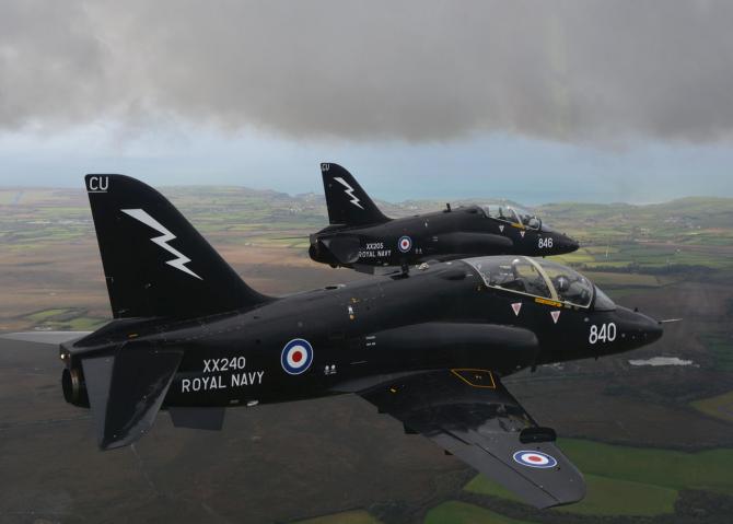 Avion Hawk T1 Sursa foto: Royal Navy