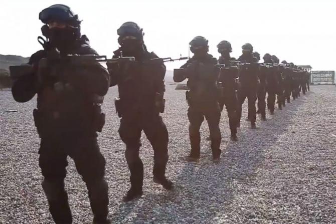 """Regimentul """"Ahmad Kadârov"""", Cecenia. Sursă foto: Instagram """"Ahmad Kadârov"""""""