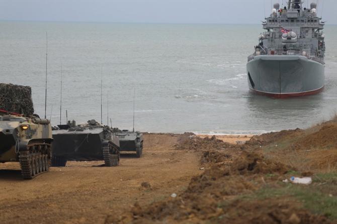 Desant naval Rusia  Sursa foto: Twitter